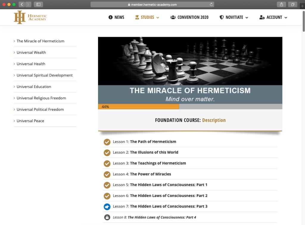 hermetic academy online courses